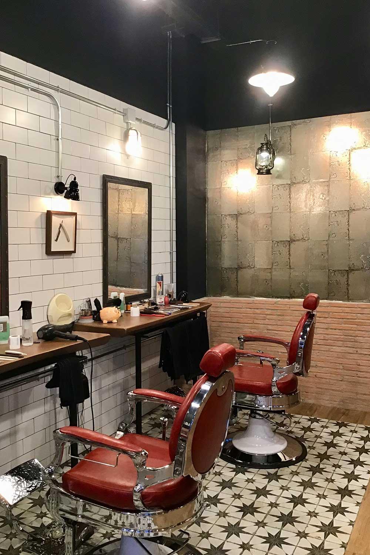 Barbería estilo industrial.
