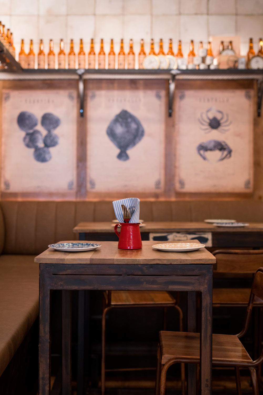 Décoration industrielle pour restaurants.