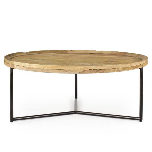 Mesa de café redonda.