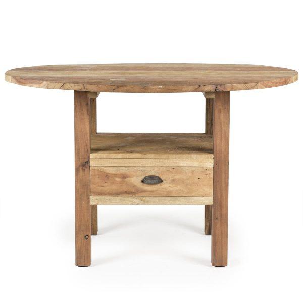 Table de salle à manger ronde.