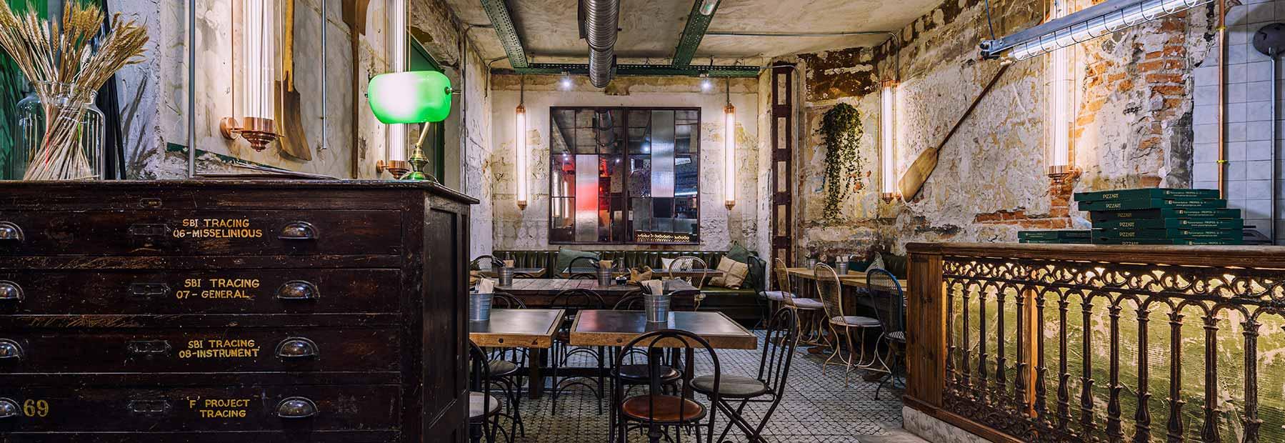 Design restaurant pizzeria Pizzart.