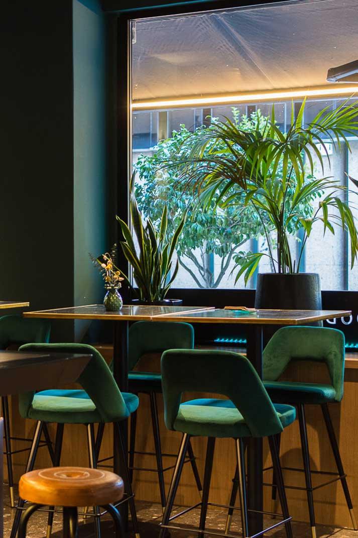 Interiorismo de restaurante.