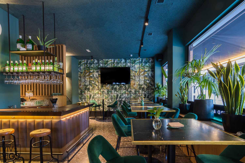 Interiorismo y decoración de restaurante.