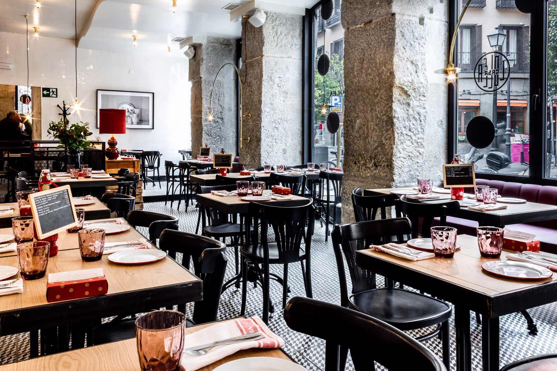 Pavimento vintage para restaurantes.