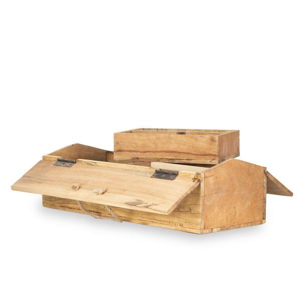 Cajas de madera expositoras.